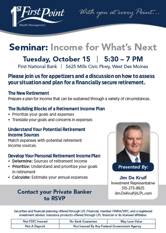 Seminar: Income for What's Next